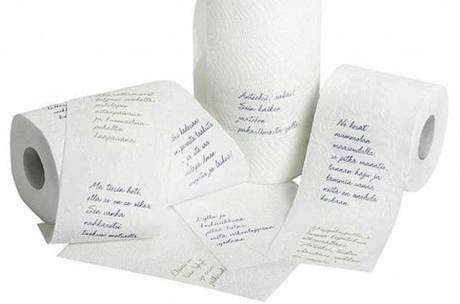 Biblical toilet paper