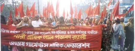 bangladesh woman workers strike
