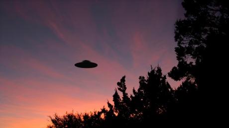 Sinister looking UFO at sunrise