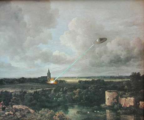 Mark Bryan village-church-with-flying-saucer