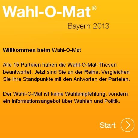 wahlomat bayern 2013