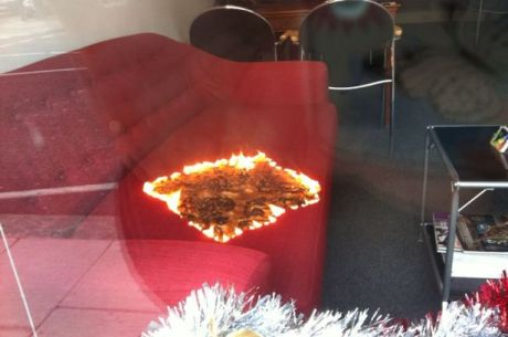 burning sofa